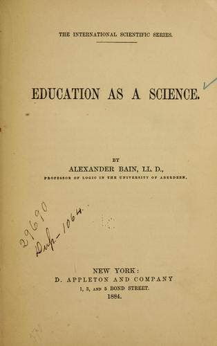 Education as a science.