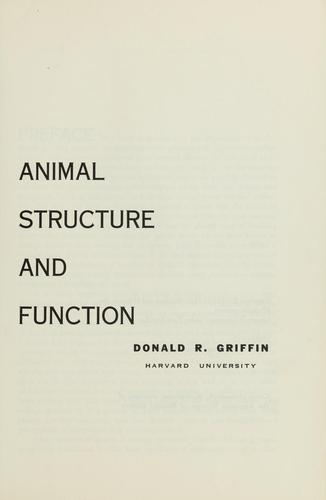 Animal structure and function.