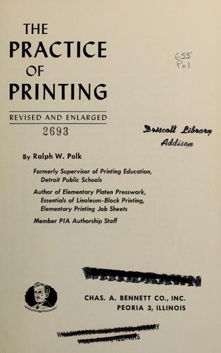 Download The practice of printing.
