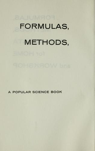 Download Formulas, methods, tips, and data for home and workshop