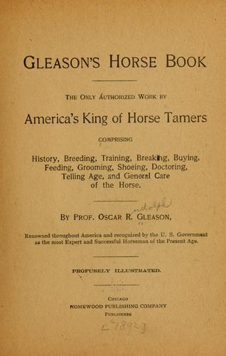 Download Gleason's horse book.