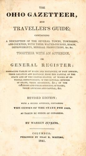 The Ohio gazetteer, and travelers guide