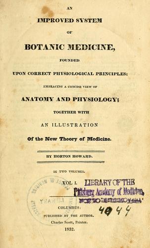 An improved system of botanic medicine