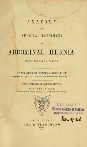 The anatomy and surgical treatment of abdominal hernia