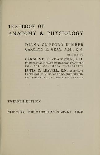 Textbook of anatomy & physiology.