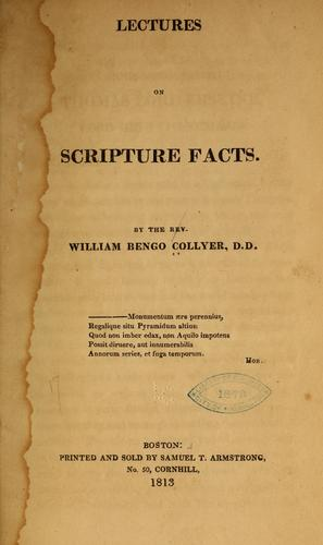 Lectures on Scripture facts.