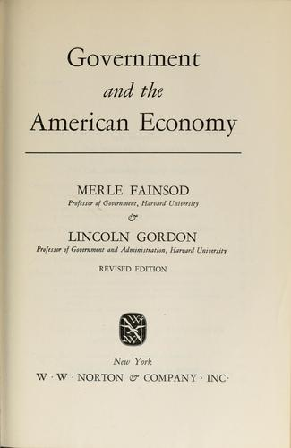 Government and the American economy