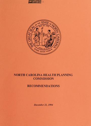 Download North Carolina Health Planning Commission
