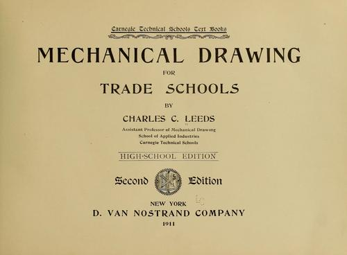 Mechanical drawing for trade schools