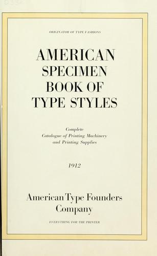 Download American specimen book of type styles