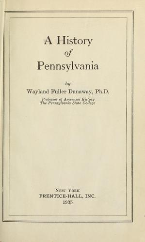 Download A history of Pennsylvania