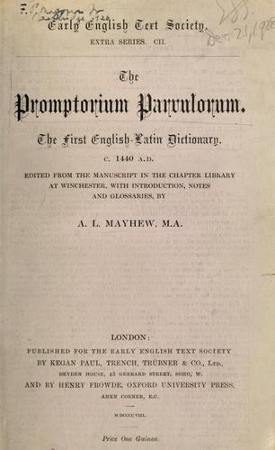 Download The Promptorium parvulorum.