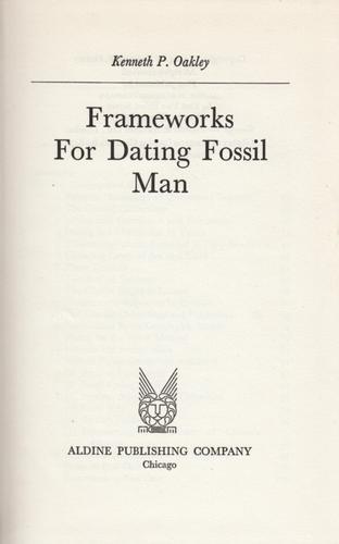 Download Frameworks for dating fossil man