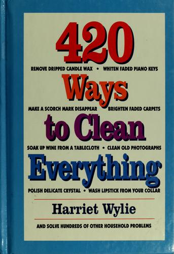 Download 420 ways to clean everything