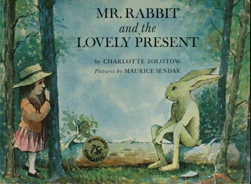 Mr. Rabbit and the lovely present.
