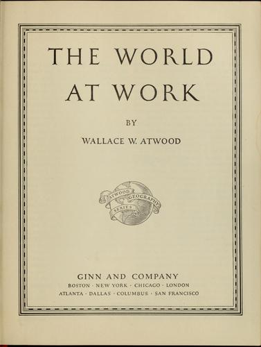 The world at work