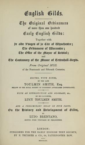 English gilds.