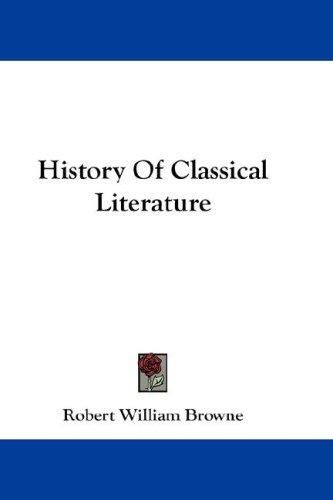History Of Classical Literature