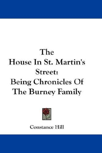The House In St. Martin's Street
