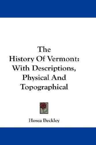 The History Of Vermont