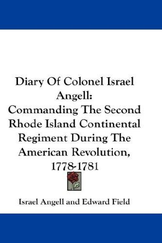 Diary Of Colonel Israel Angell