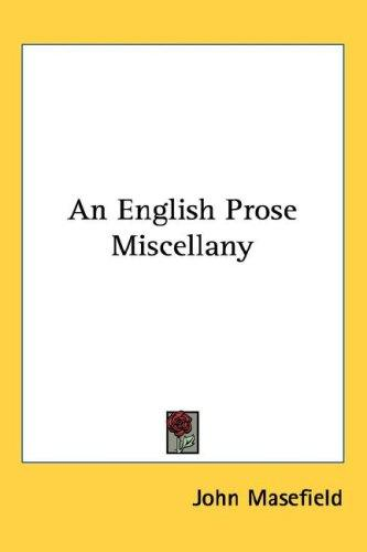 Download An English Prose Miscellany