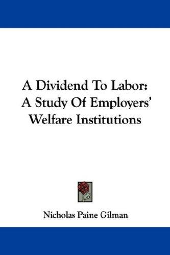 A Dividend To Labor