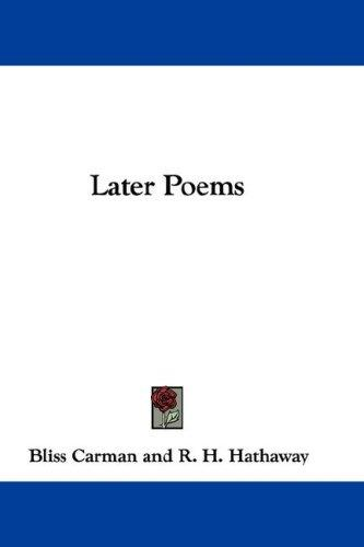 Download Later Poems