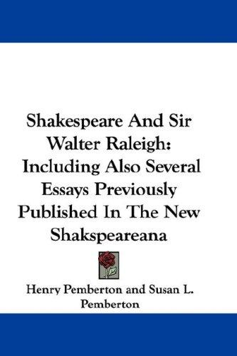 Download Shakespeare And Sir Walter Raleigh
