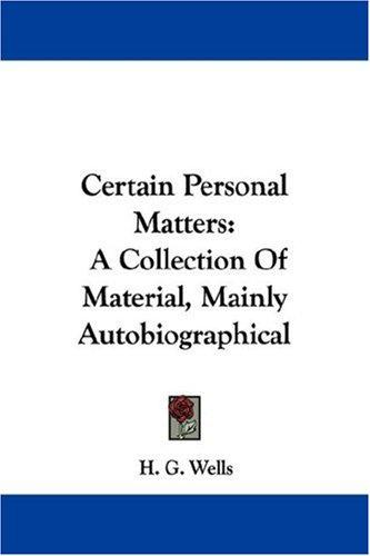 Download Certain Personal Matters