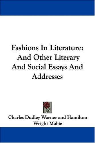 Fashions In Literature