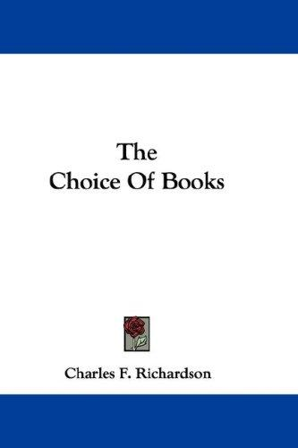 Download The Choice Of Books