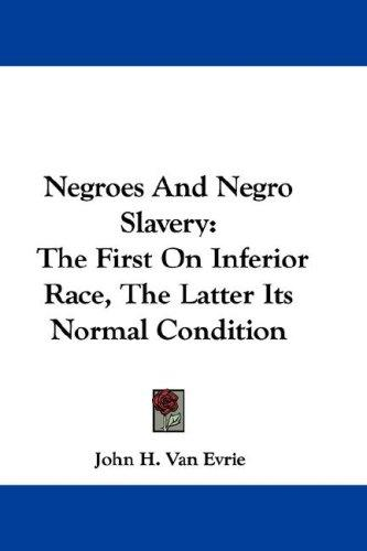 Download Negroes And Negro Slavery