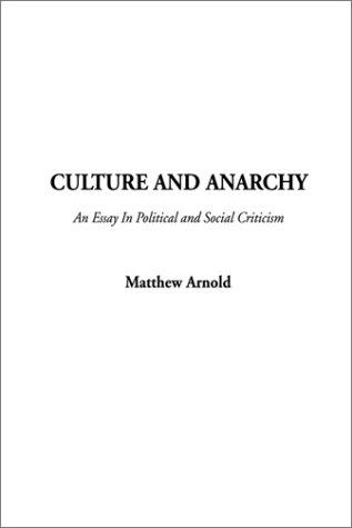 Download Culture and Anarchy