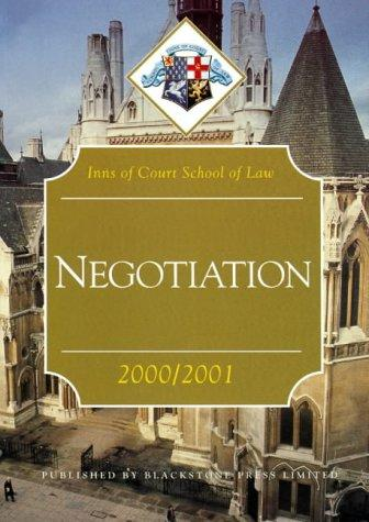 Download Negotiation (Inns of Court Bar Manuals)