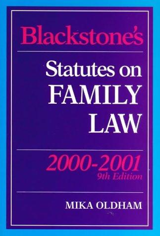 Blackstone's Statutes on Family Law (Blackstone's Statute Books)