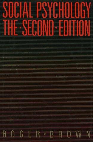 Social Psychology, 2nd Ed