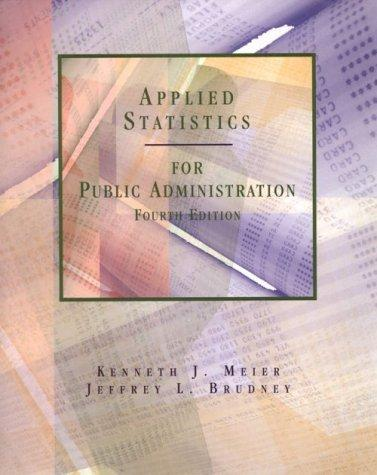 Download Applied statistics for public administration