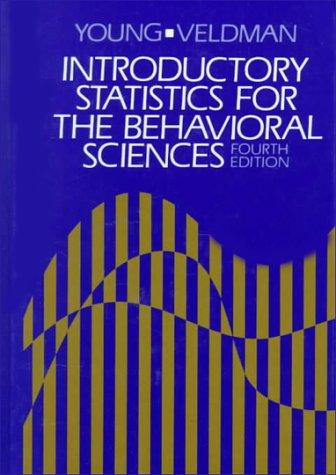 Introductory statistics for the behavioral sciences