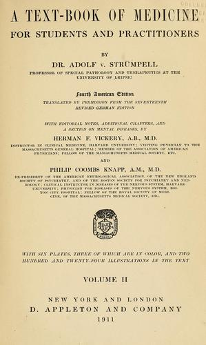 A text-book of medicine for students and practitioners