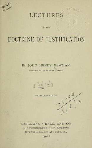 Download Lectures on the doctrine of justification