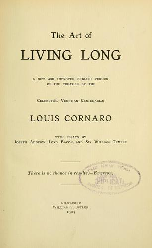 Download The art of living long