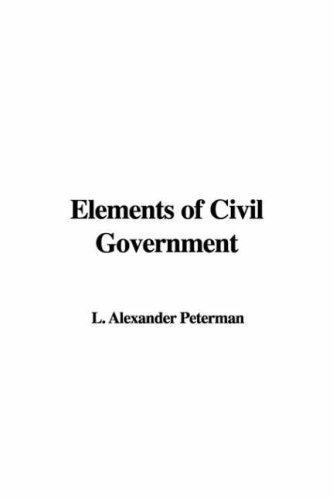 Download Elements of Civil Government