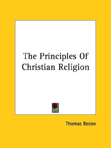 Download The Principles Of Christian Religion