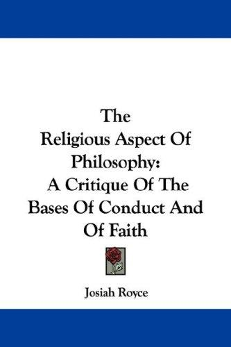 The Religious Aspect Of Philosophy