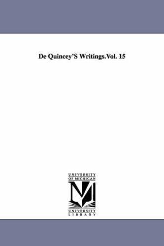 Download De Quincey's writings.