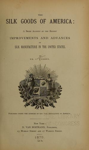Download The silk goods of America