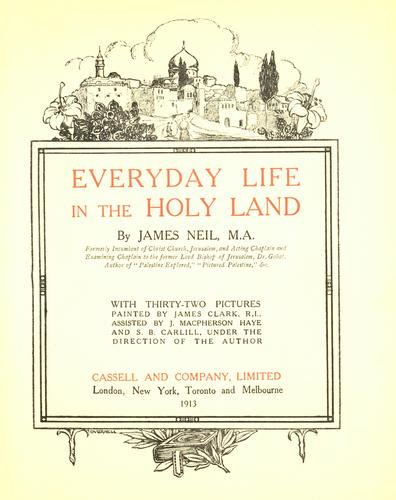 Download Everyday life in the Holy Land