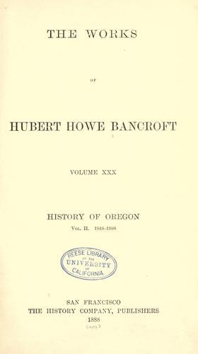 History of Oregon …