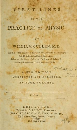 Download First lines of the practice of physic